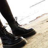 馬丁靴 厚底8孔馬丁靴新款秋季機車靴英倫風短靴女真皮平底高幫靴潮