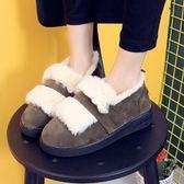 低筒雪靴-時尚保暖磨砂百搭女厚底靴子3色73kg79[巴黎精品]
