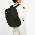 Y-NIKE BRASILIA 黑色 訓練 雙肩 後背包 休閒包 運動包 大勾 夾層 男女 BA5959-010