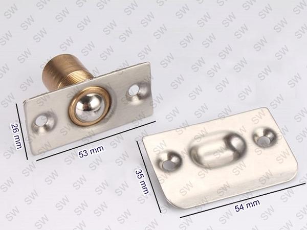 LX068可調龍吐珠 銅龍吐珠 可調式4分附螺絲 龍珠 門檔 門止 門擋 門扣 戶擋龍凸珠 門閂鎖門栓