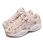 【海外限定】BBC lce Cream X Reebok 籃球鞋 Question Low 粉紅 黃 男鞋【ACS】 FZ4341
