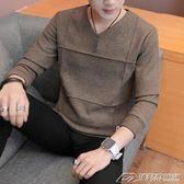 秋新款薄款毛衣男韓版潮流男士針織衫男士長袖衣服上衣潮  潮流前線