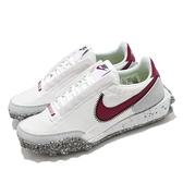 Nike 休閒鞋 Waffle Racer Crater 白 紅 女鞋 男鞋 復古慢跑鞋 再生材質【ACS】 CT1983-103