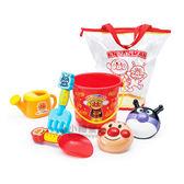 〔小禮堂嬰幼館〕麵包超人 挖沙玩具《紅.桶裝.彩虹》 4971404-30960