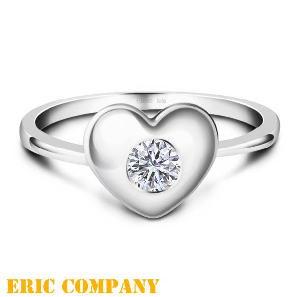 Eileen Me  Blanche-布蘭琪 愛心型單顆鑽戒 0.20克拉