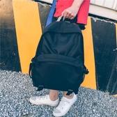 電腦包大容量後背包男黑色防水布個性男士背包15.6寸電腦背包生書包 快速出貨