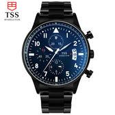 細緻工法夜光精鋼男士手錶防水皮帶時裝表 10 天