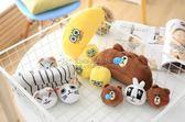小小兵海綿寶寶龍貓香蕉黃豆豆圓球抱枕玩偶毛絨玩具(25CM小號) YL-FZBZ118