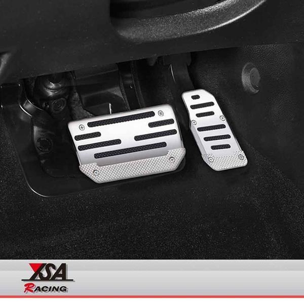 YSA 汽車踩踏板(銀/碳纖紋)