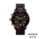 NIXON手錶 原廠總代理 A037-679 THE 42-20 Chronon 琥珀色 潮流時尚錶帶 男女 運動 生日 情人節禮物