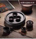 茶具套裝喝茶紫砂茶壺圓茶盤