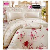 『舞韻玫瑰』(5*6.2尺)/粉*╮☆【薄床包】60支高觸感絲光棉/雙人