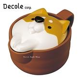 日本限定 Decole 柴犬 大臉版 馬克杯附蓋組 / 咖哩料理杯 / 微波料理杯