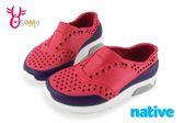 native LENNOX BLOCK 洞洞鞋 小雷諾系列 中小童 休閒鞋 K9477#紅色◆OSOME奧森童鞋