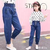 女童牛仔褲 2019新款兒童褲子夏季女孩洋氣褲中大童長褲時尚JA7761『科炫3C』