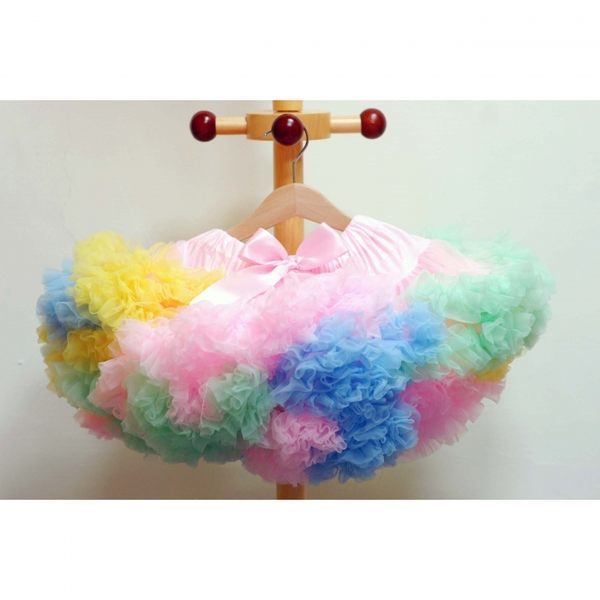 澎裙 Chic Baby Rose 彩虹手工雙層雪紡澎裙 美國手工製造