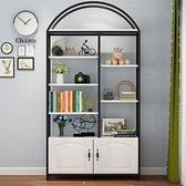 書架落地現代簡約置物架鋼木客廳簡易家用組合省空間多層兒童書櫃【快速出貨】