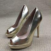 歐美恨天高女鞋 性感細跟魚嘴單鞋 超高跟12公分T台女鞋 奇思妙想屋