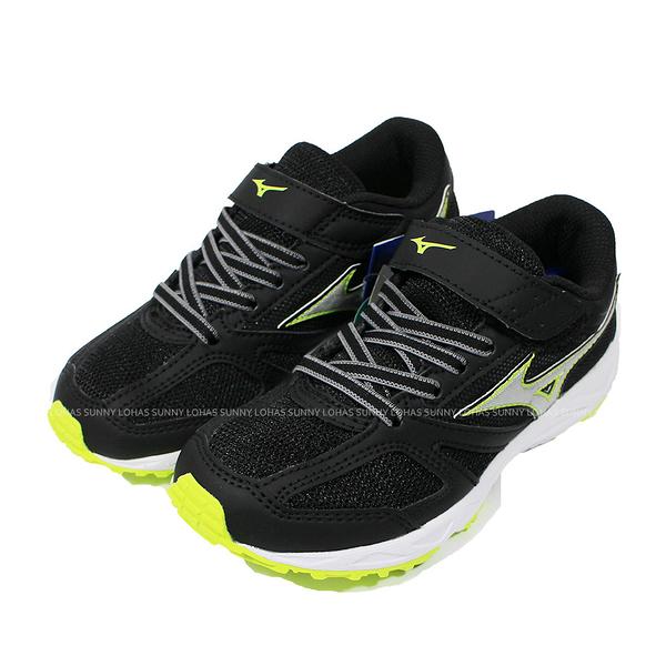 (B3) MIZUNO 美津濃 童鞋SPEED STUDS BELT 慢跑 運動鞋 K1GC194008黑綠 [陽光樂活]