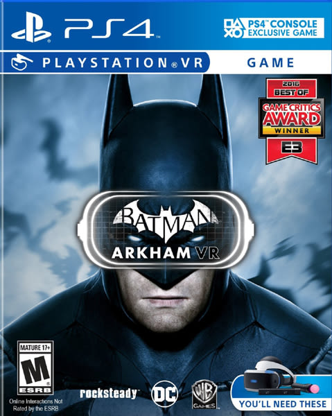 PS4 Batman: Arkham VR 蝙蝠俠:阿卡漢 VR(美版代購)