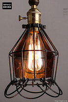INPHIC- 工業風格復古吊燈美式創意咖啡館酒吧吧台鍋蓋鳥籠單頭吊燈-C款_S197C