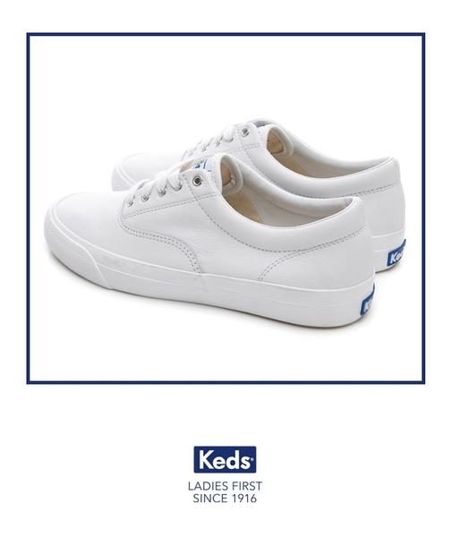 Keds 女鞋 ANCHOR 皮革復刻綁帶休閒鞋 - 白 83W132594