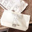 《花花創意会社》外流。黃色尼龍MIFF兔手提便當袋【H5751】