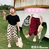夏季薄款女童棉麻防蚊褲2021新款網紅寶寶洋氣燈籠褲兒童休閒褲子 蘇菲小店