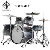 DIXON Fuse Maple懸吊式楓木爵士鼓組-含支架/銅鈸/鼓椅/踏板/鼓棒