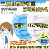 三層加厚熔噴布 口罩 成人口罩 兒童口罩 三層口罩 (通過 CNS 認證)