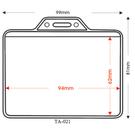 【奇奇文具】STAT TA-021 橫式(凸型)3孔識別證套 94x62mm