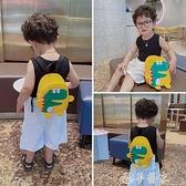 雙肩包 兒童帆布雙肩包女可愛卡通小恐龍幼兒園書包時尚迷你小童男童背包 夢藝