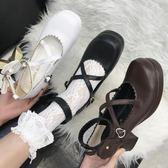 日系學院鞋日系lolita洛麗塔鞋子女學生cos可愛公主鞋軟妹高跟蘿莉鞋 電購3C