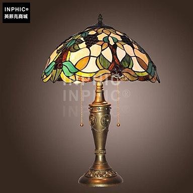 INPHIC-歐式田園復古手工玻璃燈具餐廳酒吧臥室床頭櫃裝飾檯燈_S2626C