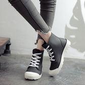 時尚雨鞋2018新款水鞋女雨靴正韓短筒防滑成人防水系帶可愛膠鞋冬