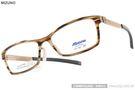 MIZUNO 美津濃 眼鏡 MF1501 C16 (流線棕-金) β 鈦金屬系列百搭休閒款 # 金橘眼鏡