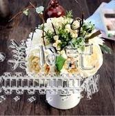 仿真玫瑰花束 歐式高客廳臥室辦公桌裝飾擺件    LY4813『夢幻家居』