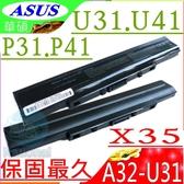 ASUS電池(保固最久)-華碩 X35SD,X35SG,X35K,X35KI,X35KB,P31,P31F,P31JG,P31J,P31SD,A42-U31,A32-U31
