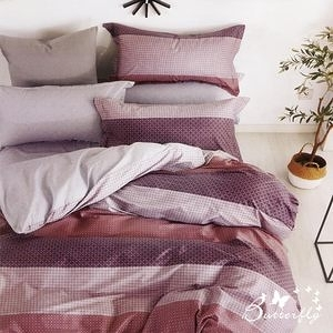 BUTTERFLY-台製純棉被套-魅力城-紅-4.5X6.5