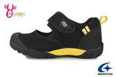 Moonstar 月星 HI系列 日本機能鞋 中童 護趾涼鞋 速乾 休閒鞋 I9638#黑黃◆OSOME奧森鞋業