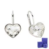 SWAROVSKI 施華洛世奇 BELLA HEART璀燦水晶愛心造型銀色耳環 5515191