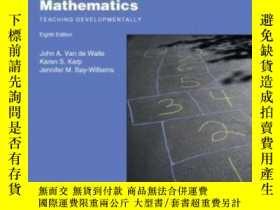 二手書博民逛書店Elementary罕見And Middle School Mathematics: Teaching Devel
