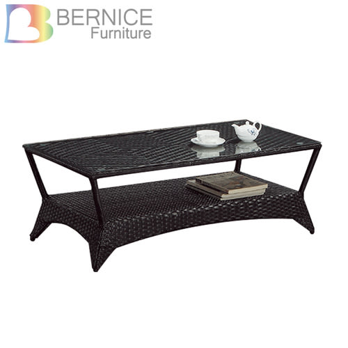 Bernice-馬德4尺休閒藤編玻璃大茶几