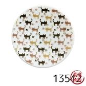 【日本製】貓小紋系列 小瓷盤 小貓腳印圖案 SD-7006 - 日本製 美濃燒 貓小紋系列