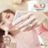 戒指 韓國直送珍珠水鑽貓咪造型戒指-Ruby s 露比午茶