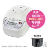 日本代購 空運 2019新款 TIGER 虎牌 JBH-G102 微電腦電子鍋 電鍋 1.7mm黑遠赤厚釜 6人份