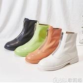 馬丁靴女英倫風年新款秋季前拉鏈瘦瘦靴百搭靴子春秋短靴單靴 歌莉婭