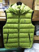 荒野Wildland 700FP 可拆帽 輕量羽絨背心 羽絨服 (0A62172-39 芥末綠) 男~特惠5折