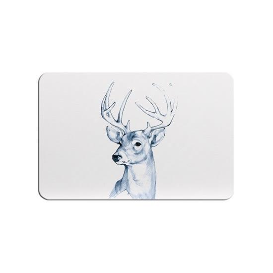 吸水地墊 北歐風 地墊 浴室  腳踏墊 速乾墊 防滑墊 矽藻土 防潮  麋鹿系列硅藻土地墊【W63】MY COLOR