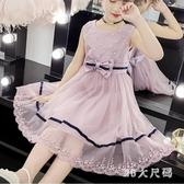 女童連身裙 夏裝2020新款公主裙子小孩6夏天7洋氣無袖洋裝 EY11789 【MG大尺碼】